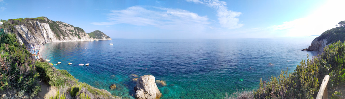 panorama della spiaggia di sansone
